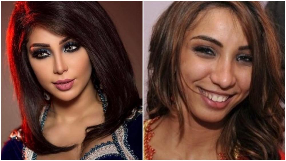 فتاة تقوم بإصلاح بشرتها و شعرها و أنفها و فمها و حواجبها لتصبح جميلة و جذّابة